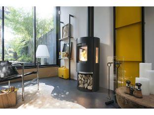 Poêle à bois acier raccordable 3 côtés vitrés Onsen 648815