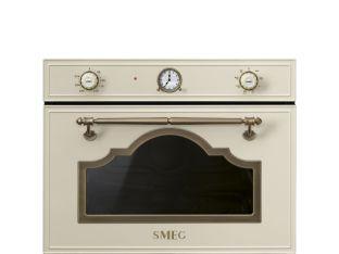 Micro-ondes GRIL intégrable SMEG SF4750MPO crème