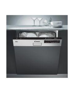Lave-Vaisselle Intégrable CANDY CDS2LS54X-47, bandeau inox